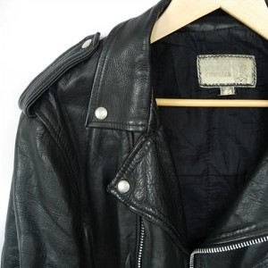 Black Leather Jacket Close
